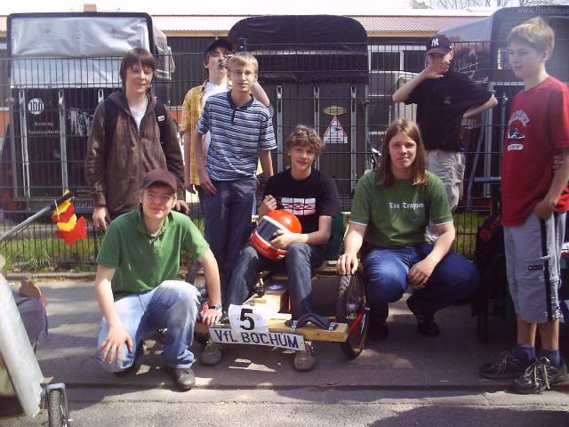 Unser Team vom Seifenkistenrennen 2007