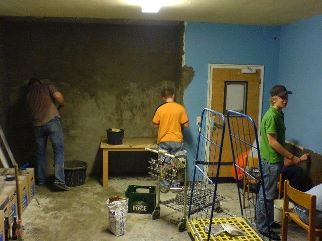 Photo von den Bauarbeiten