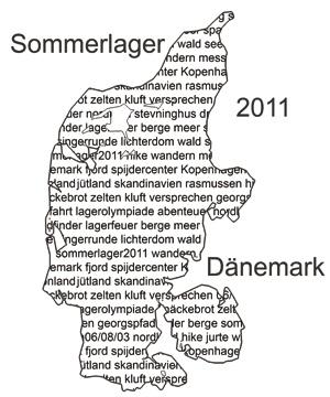 Karte von Dänemark - Logo des Lagers