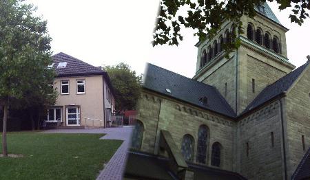 Photo von Pfarrheim und Kirche